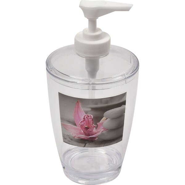 Chic and Zen Clear Acrylic Printed Bathroom Soap Dispenser by Evideco