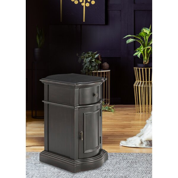 Tanja 1-door 1-drawer Cabinet In Dark Brown by Red Barrel Studio