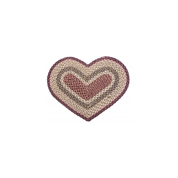 Braided Heart Kitchen Mat