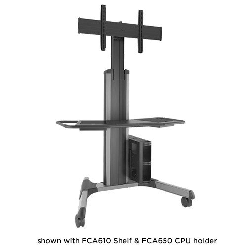 Large Fusion Manual Height Adjustable AV Cart by Chief Manufacturing