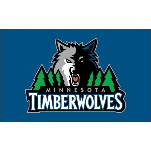 NBA Minnesota Timberwolves Polyester 3 x 5 ft. Flag by NeoPlex
