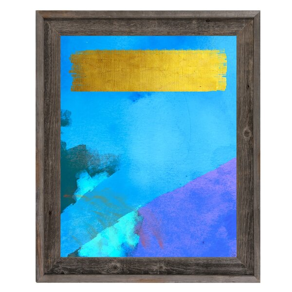 Heavy Bar Blue Framed Painting Print on Canvas by Click Wall Art