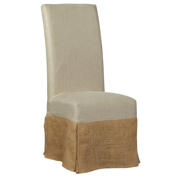 Burlap Slip Covered Parsons Upholstered Dining Chair by Furniture Classics