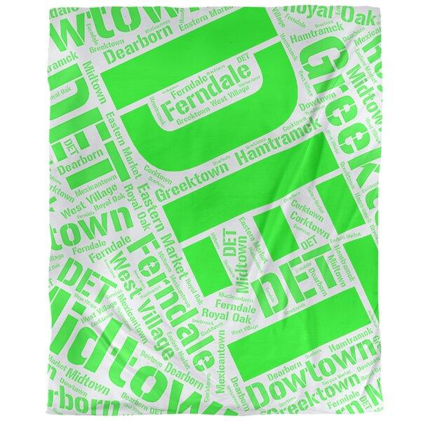 Detroit Michigan Districts Single Reversible Duvet Cover