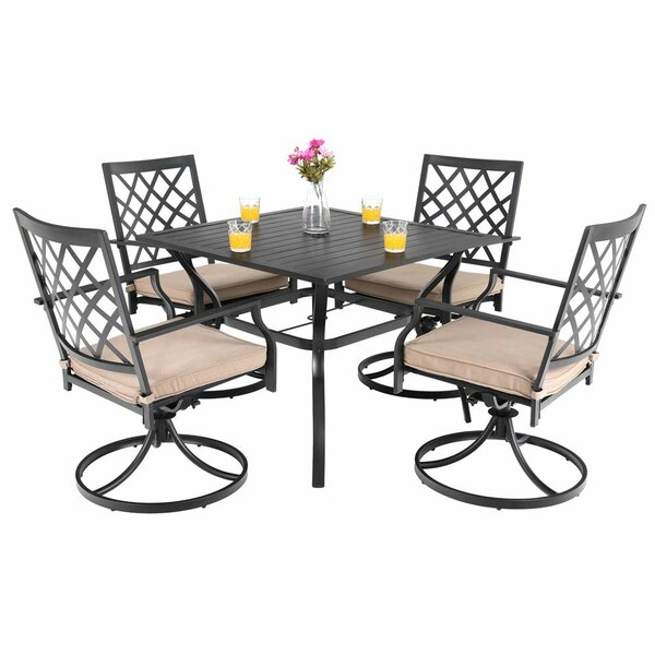 Stimson Outdoor 5 Piece Dining Set With Cushions (Set Of 2) By Charlton Home