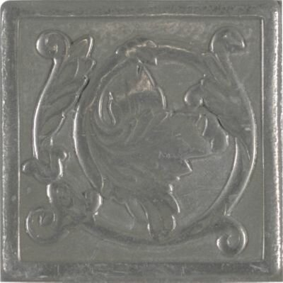 Accent Statements Metal 2 x 2 Scrolling Leaf Decorative Corner/Insert in Vintage Pewter by Mohawk Flooring