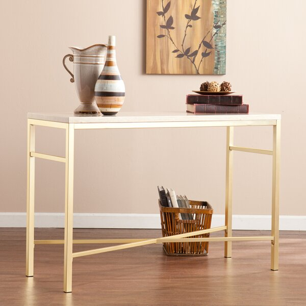 Zipcode Design Lindsey Console Table In Travertine & Reviews by Zipcode Design