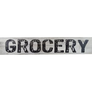 'Grocery' Textual Art on Manufactured Wood by Fireside Home
