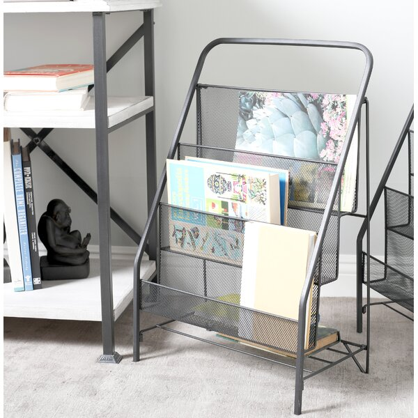 Industrial 3-Tiered Magazine Rack by Cole & Grey