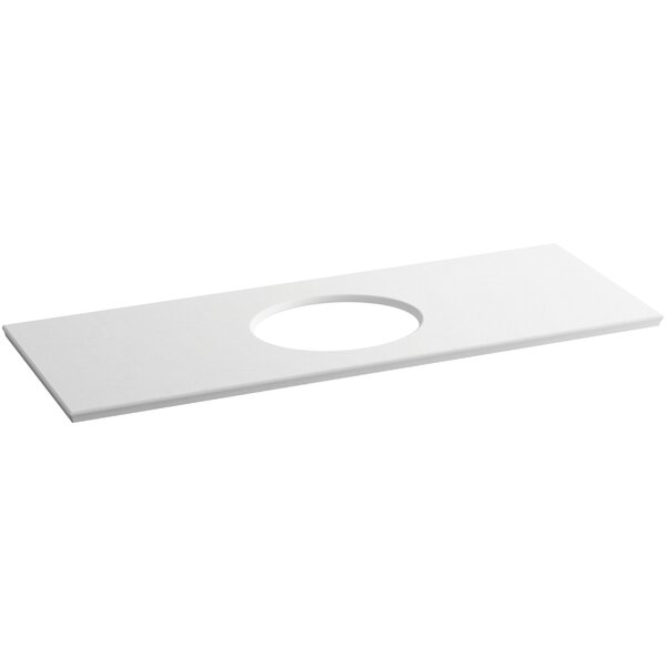 Solid/Expressions Single Verticyl Oval Cutout 61 Single Bathroom Vanity Top by Kohler