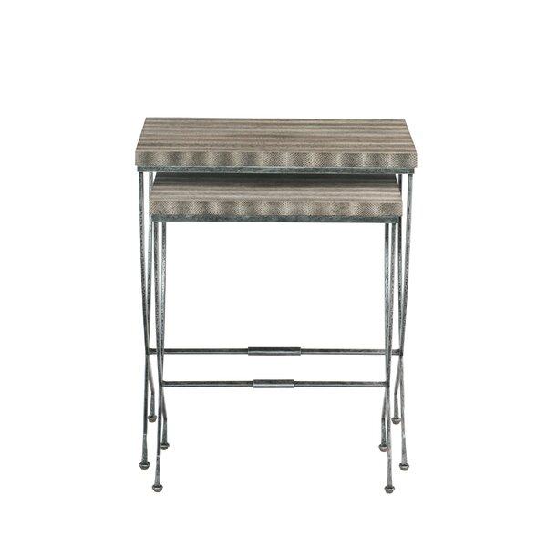 Wyman Trestle Nesting Tables By Bernhardt