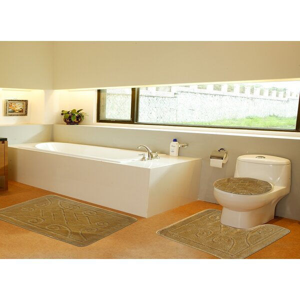 3 Piece Twist Bath Rug Set by Daniels Bath