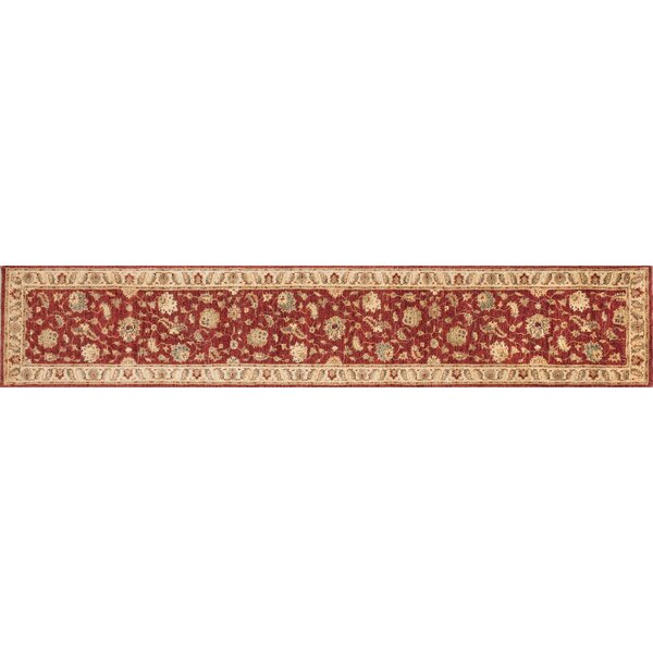 Durden Hand-Knotted Red/Ivory Area Rug by Darby Home Co