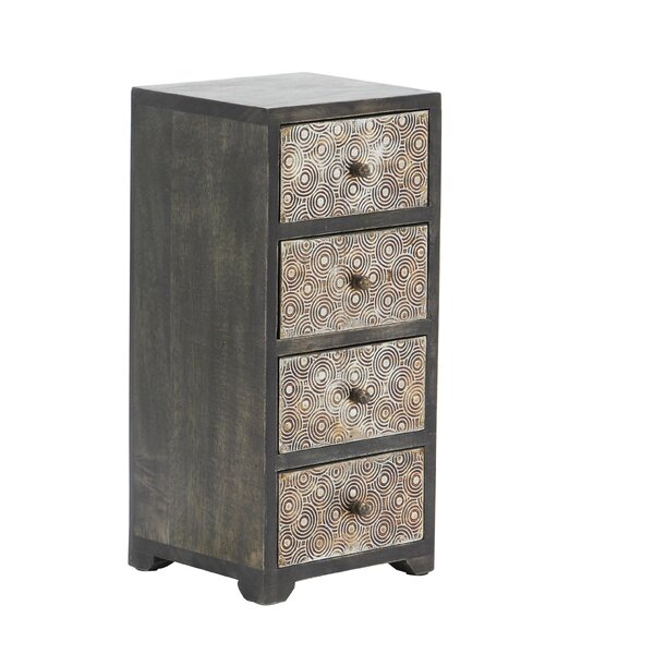 Cima Rustic Rectangular 4-Drawer Free Standing Jewelry Armoire by Bloomsbury Market