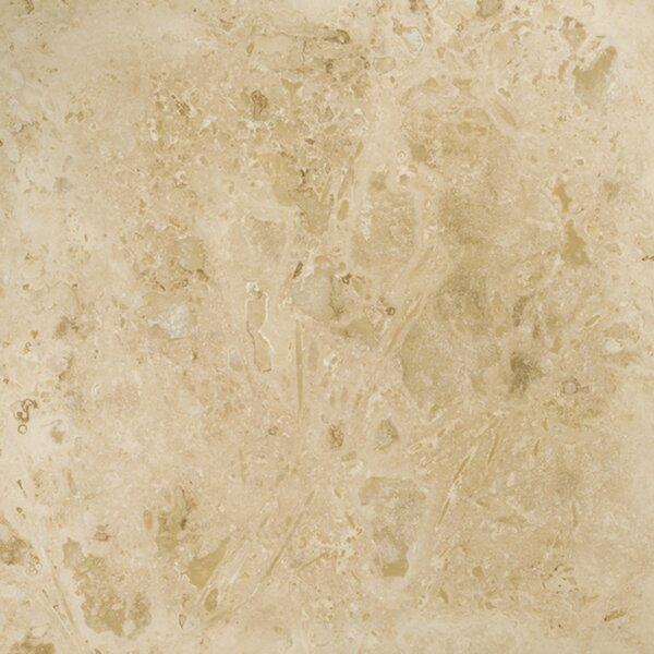 Travertine 16 x 16 Filled and Honed Tile in Beige by Emser Tile