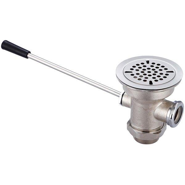 Waste Pop-Up Kitchen Sink Drain with Overflow by Central Brass