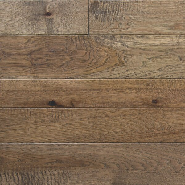 Random Width Engineered Hickory Hardwood Flooring in Winter Wheat by Somerset Floors