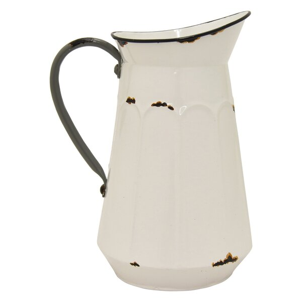 Mika Pitcher Metal Pot Planter by Gracie Oaks