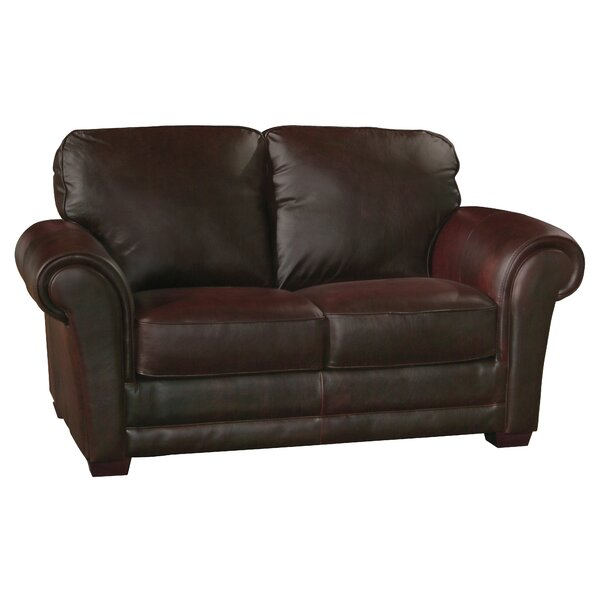 Buda Leather Loveseat by Williston Forge
