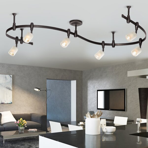 Benny Flex Rail 6-Light Track Lighting Kit by Catalina Lighting