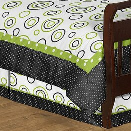 Spirodot Toddler Bed Skirt by Sweet Jojo Designs