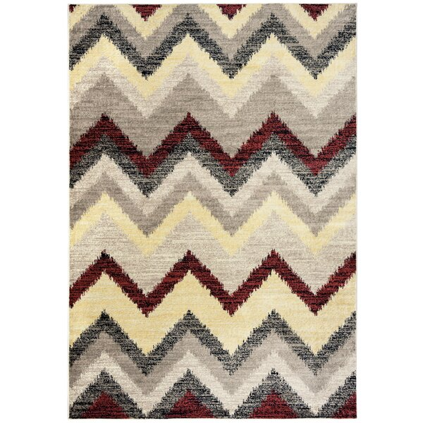 Culver Geometric Beige Area Rug by Threadbind