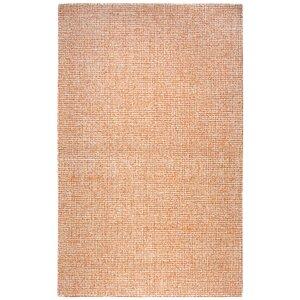 Lemington Hand-Tufted 100% Wool Orange Area Rug