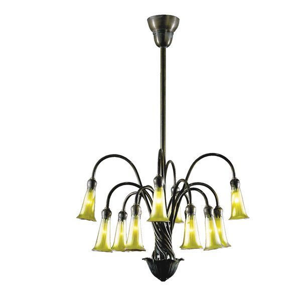 Perez 12 - Light Shaded Tiered Chandelier by Astoria Grand Astoria Grand