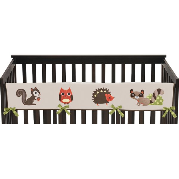 Forest Friends Long Crib Rail Guard Cover by Sweet Jojo Designs