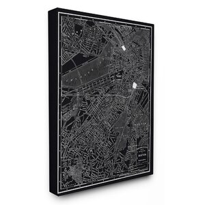 Boston 1985 Vintage Map Graphic Art on Canvas by Stupell Industries