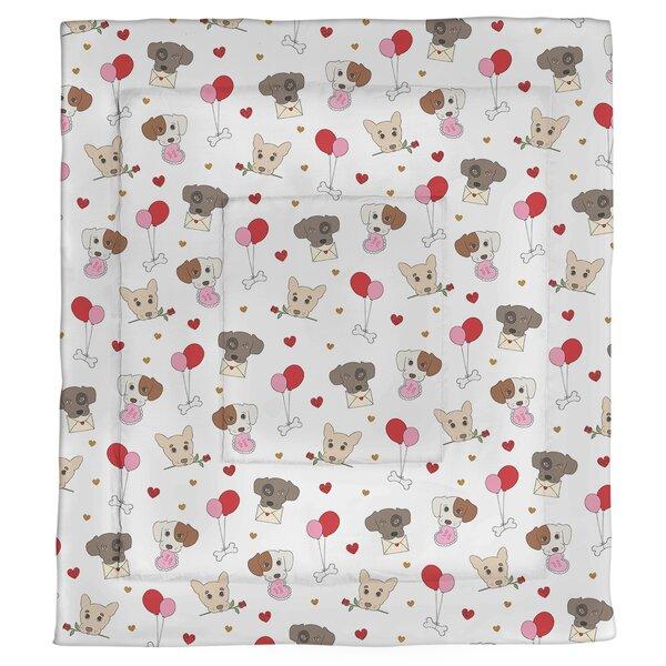 Valentine's Day Dogs Single Comforter