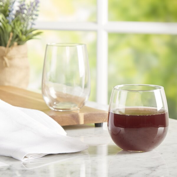 Wayfair Basics 12 Piece Assorted Stemless Wine Glass Set by Wayfair Basics™