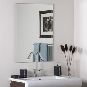 Bathroom Wall Mirror vanity mirrors | wayfair