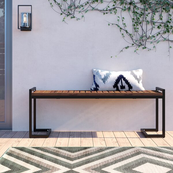 Ossu Iron Picnic Bench By Union Rustic