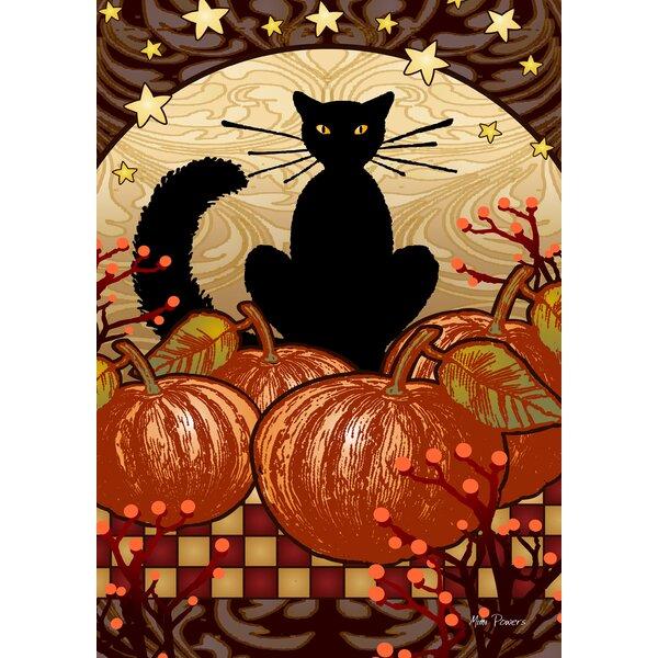 Moonlight Cat 2-Sided Garden flag by Toland Home Garden