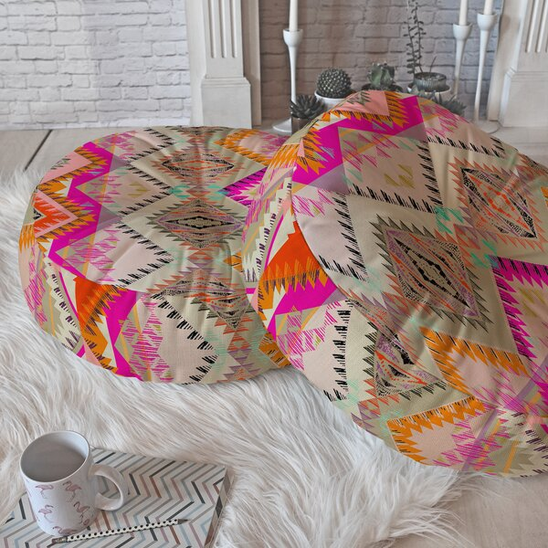 Pattern State Floor Pillow by East Urban Home