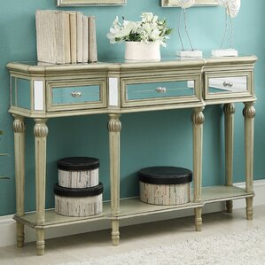 Margarett 3 Drawer Console Table by Wi..