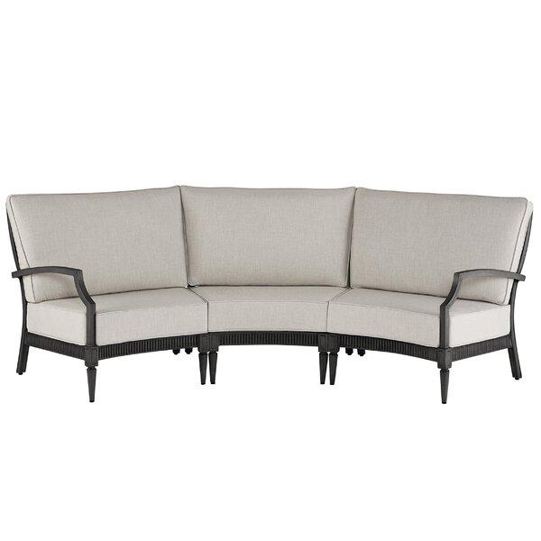 Euston 3 Piece Sunbrella Sectional Set with Cushions Canora Grey ATF4973