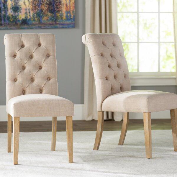 Pompon Upholstered Dining Chair (Set Of 2) By Lark Manor Lark Manor