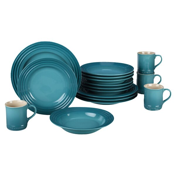 Stoneware 16 Piece Dinnerware Set, Service for 4 by Le Creuset