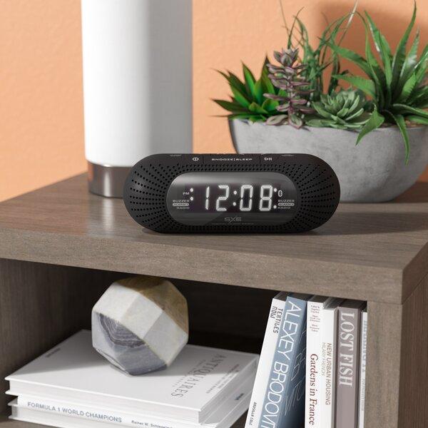 LED Bluetooth and Radio Alarm Clock by Zipcode Design