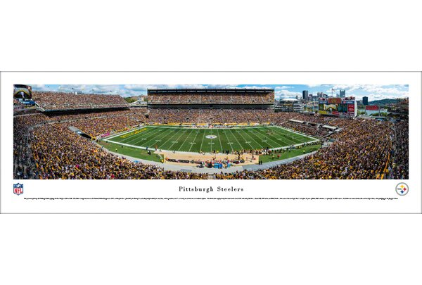 NFL Pittsburgh Steelers 50 Yard Line Photographic Print by Blakeway Worldwide Panoramas, Inc
