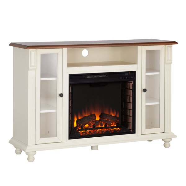 Sidney 52 TV Stand with Fireplace by Darby Home Co