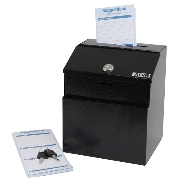 Keyed Suggestion Drop Box by Adir Corp