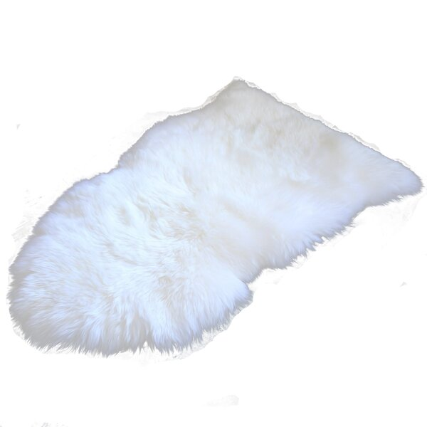 Love Sheepskin White Area Rug by Union Rustic