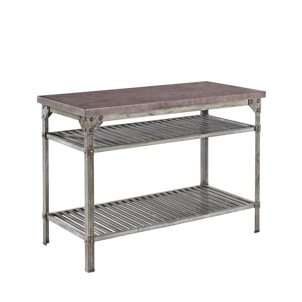 Penney Prep Table Concrete Top By Williston Forge 2019 Sale