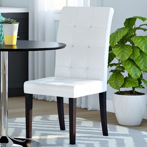 Hinton Charterhouse Genuine Leather Upholstered Dining Chair (Set of 2) by Latitude Run