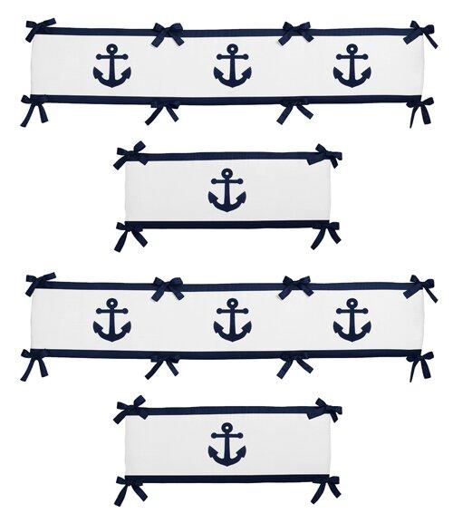 Anchors Away Crib Bumper by Sweet Jojo Designs