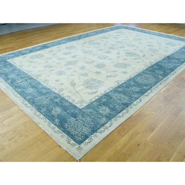 One-of-a-Kind Bearfield Handwoven Ivory Wool Area Rug by Isabelline