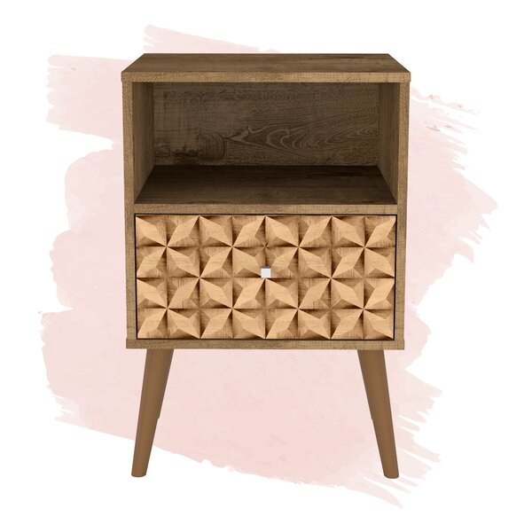 Hayward 1 - Drawer Wood Nightstand by Foundstone Foundstone™